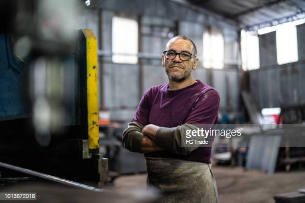 industrial worker portrait - working seniors stock pictures, royalty-free photos & images