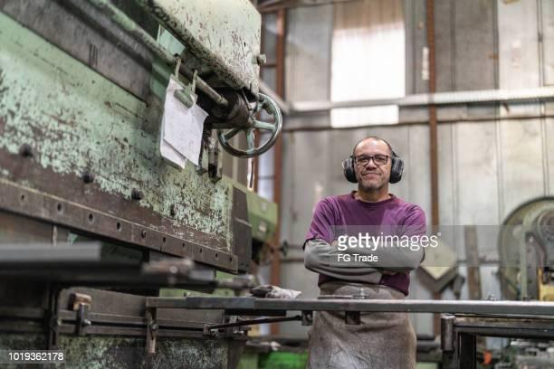 Industriearbeiter Portrait