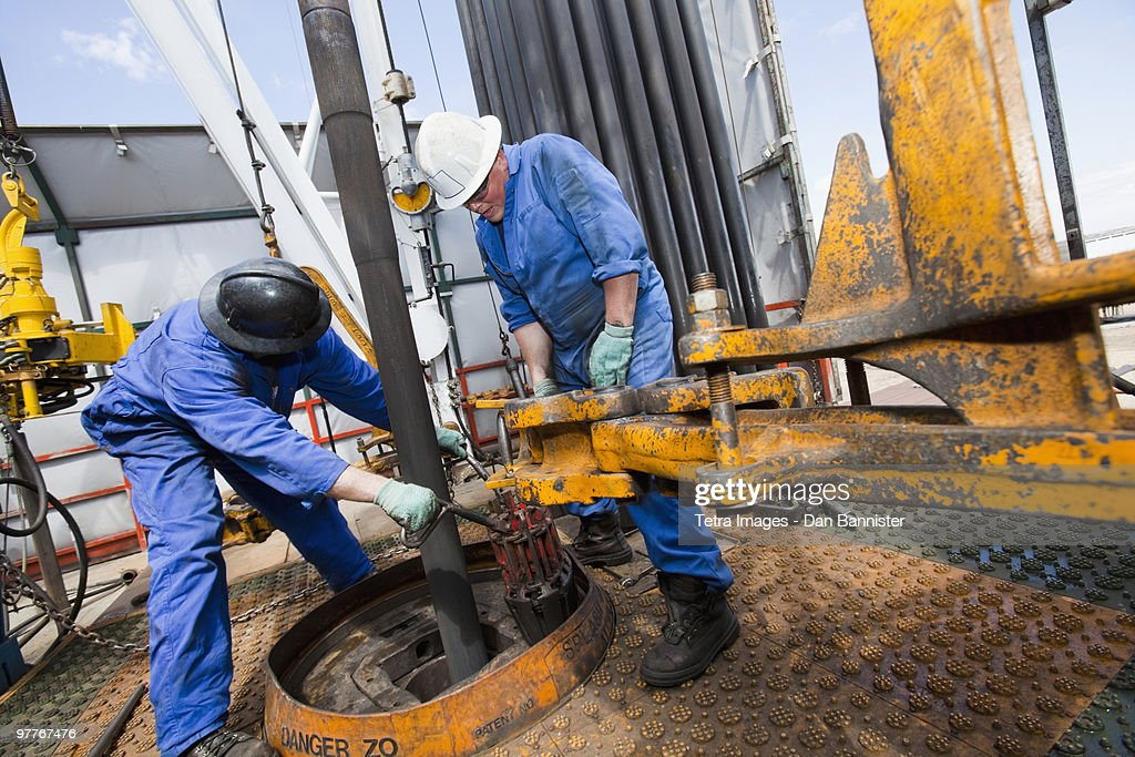 Industrial workers : Stock Photo