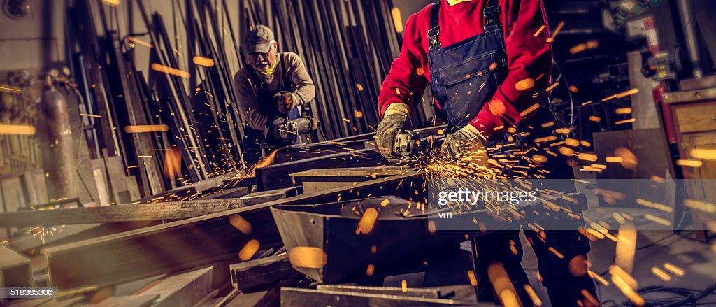 Industrial Arbeitnehmer bei der Arbeit-tools : Stock-Foto