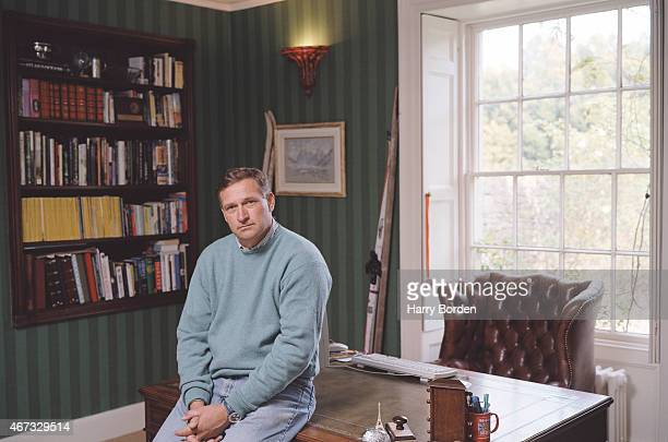 Industrialist and adventurer David HemplemanAdams is photographed on October 1 2003 in London England