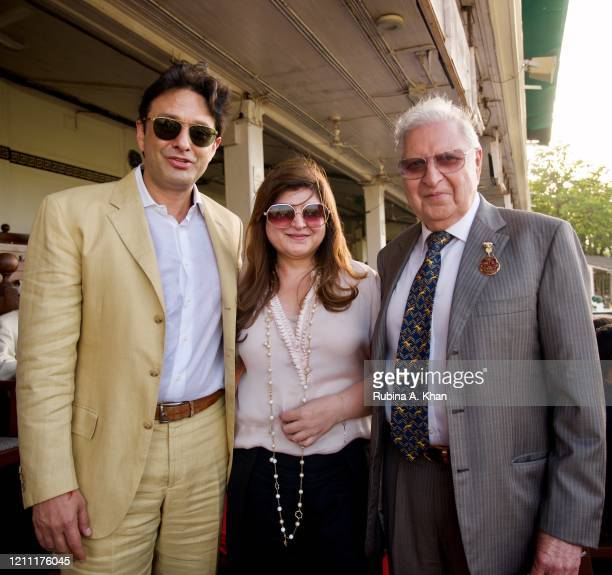 Industrialist Ness Wadia with Zavaray Poonawalla, Chairman of the Royal Western India Turf Club and his daughter, Delna Poonawalla on March 08, 2020...