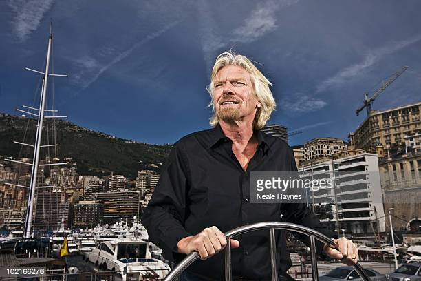 Industrialist Richard Branson poses for a portrait shoot in Monte Carlo May 23 2010