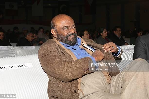 Industrialist Shiv Nadar duirng Swami Haridas Tansen Sangeet Nritya Mahotsavon at FICCI Auditorium on January 9 2015 in New Delhi India The three day...