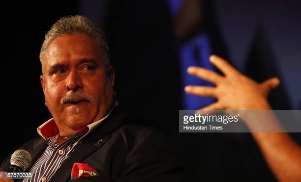 Industrialist Vijay Mallya talks on 'Headwind Tailwind Entrepreneurship And Why The Flight Path Is So Hard In India' during the third day of THiNK...