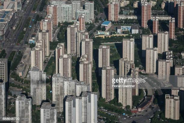 Industrialized buildings are pictured on May 24, 2017 in Beijing, China.