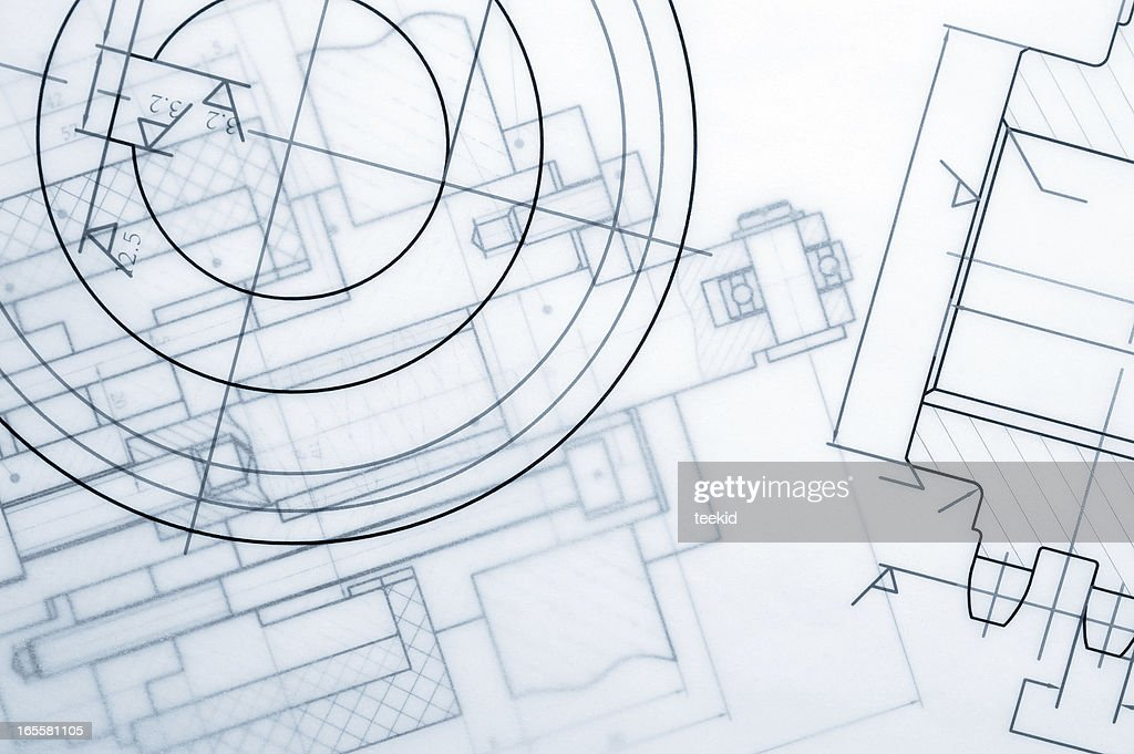Industry Document Blueprint : Stock Photo