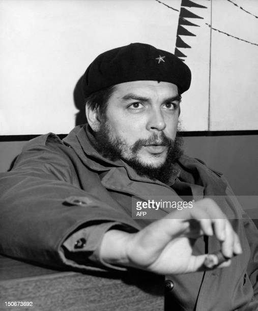 Industry Minister of Cuba Ernesto Che Guevara poses in january 1965 AFP PHOTO