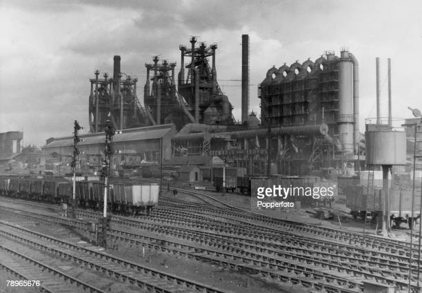 circa 1960 Corby Northamptonshire England The Stewart and Lloyds Steelworks in Corby