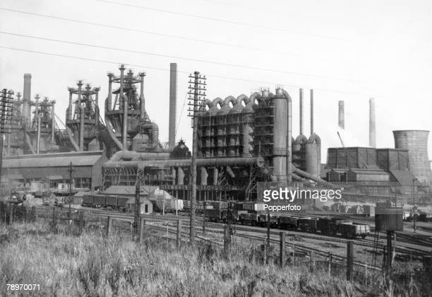 circa 1960's Corby Northamptonshire England A general view of the Corby steelworks