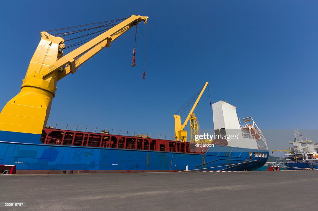 Industry ship at port : Stock Photo