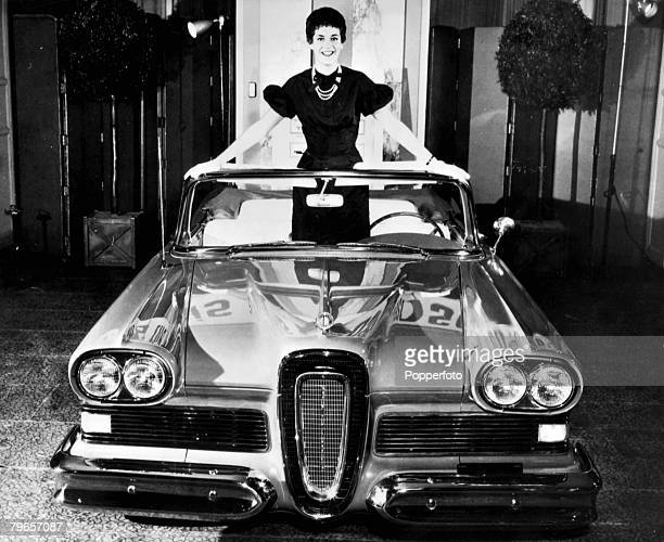 Industry, Transport, pic: circa 1957, The Ford Edsel, a car which had only a short spell as a production model, It was named after Edsel Ford, the...