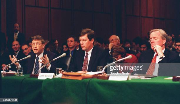 INDUSTRYBill Gates chairman and CEOMicrosoft Corp Scott McNeallypresident and CEO of Sun Microsystems and Jim Barksdalepresident and CEO of Netscape...