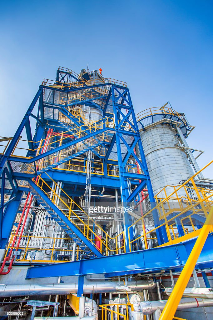 Indutrial factory process area : Stock Photo