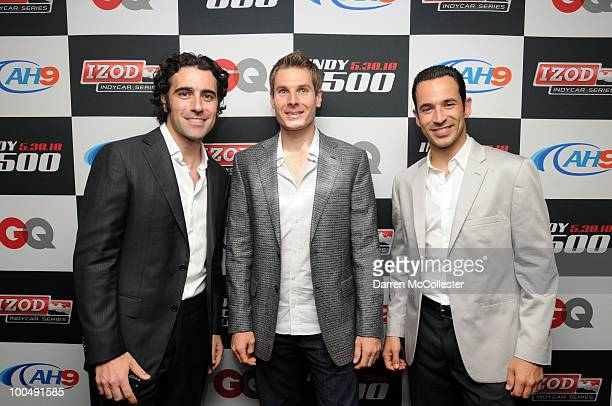 Indy 500 drivers Dario Franchitti Will Power and Helio Castroneves attend the GQ Izod Indy 500 Dinner at The Liberty Hotel on May 24 2010 in Boston...