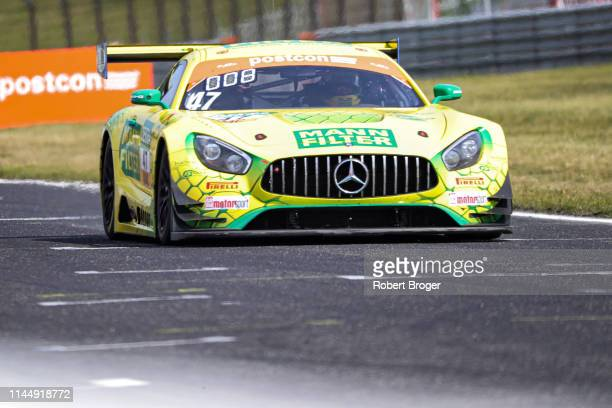 Indy Dontje from Netherland Maximilian Götz from Germany and MannFilter Team HTP during the race 2 at the ADAC GT Masters at Autodrom Most on May 19...