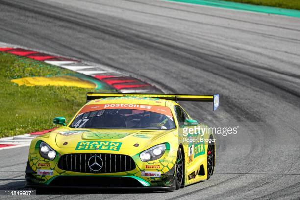Indy Dontje from Netherland Maximilian Götz from Germany and MannFilter Team HTP during the Qualifying for race 1 at the ADAC GT Masters at Red Bull...