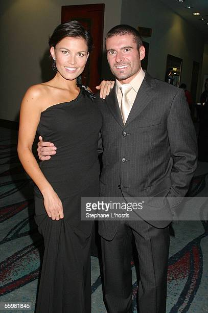 Indy Driver Alex Tagliani and his wife Bronte attend the Lexmark Indy 300 Gala Ball presented by Simex Tyres at the Jupiters Casino October 21 2005...