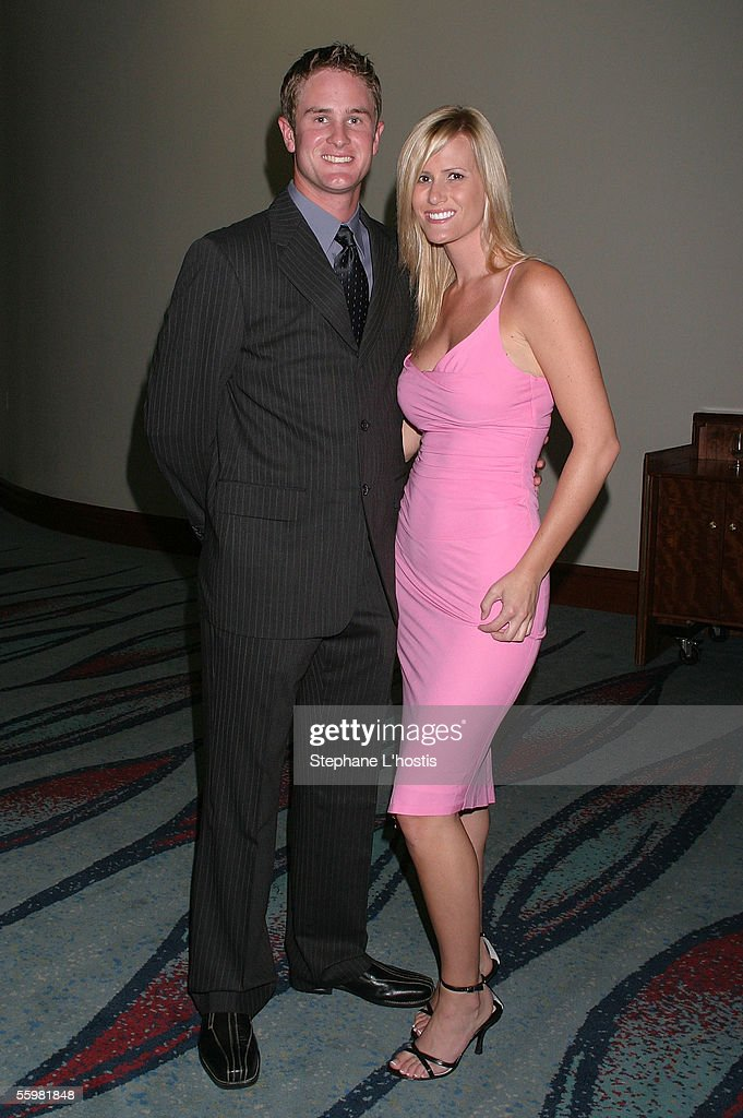 Indy Driver Ryan Hunter-Reay and his girlfriend Beccy Gordon attend the Lexmark Indy 300 Gala Ball presented by Simex Tyres at the Jupiters Casino, October 21, 2005 on the Gold Coast, Australia.