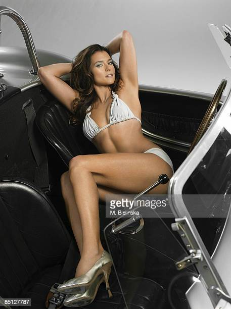 Indy race car driver Danica Patrick is photographed for Swimsuit Issue 2009 Swimsuit by Kristi Kenna Collection