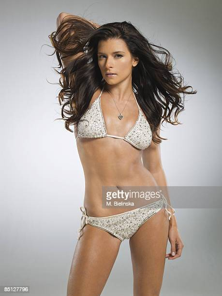 Indy race car driver Danica Patrick is photographed for Swimsuit Issue 2009 Swimsuit by Pamela Rolland