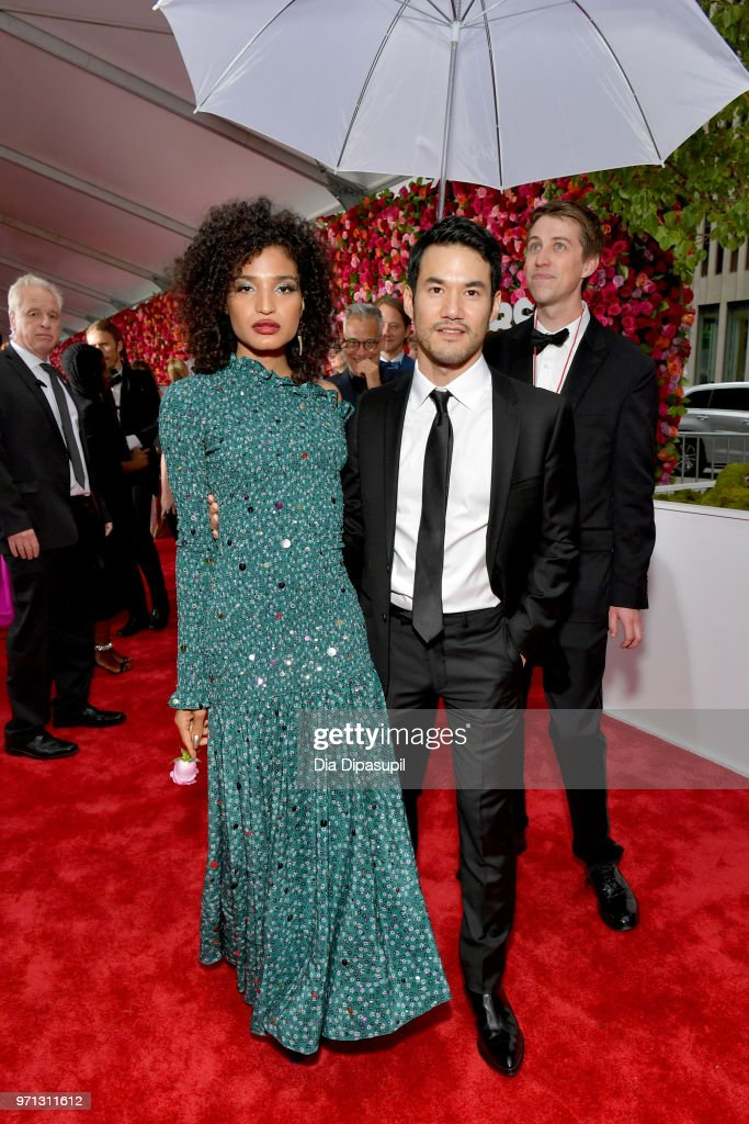 Indya Moore and Joseph Altuzarra attend the 72nd Annual Tony Awards at Radio City Music Hall on June 10, 2018 in New York City.