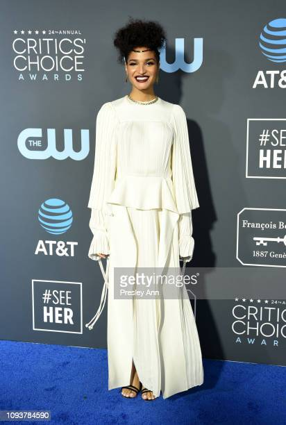 Indya Moore at The 24th Annual Critics' Choice Awards at Barker Hangar on January 13 2019 in Santa Monica California
