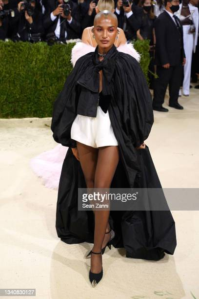 Indya Moore attends 2021 Costume Institute Benefit - In America: A Lexicon of Fashion at the Metropolitan Museum of Art on September 13, 2021 in New...