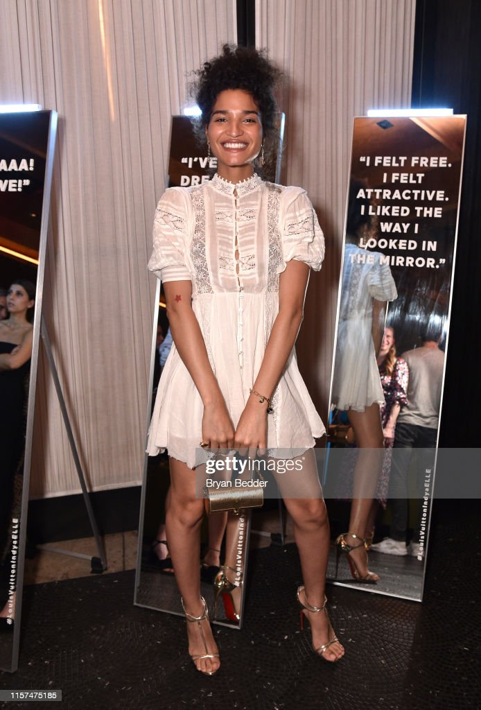 ELLE & Louis Vuitton Celebrate ELLE Cover Star Indya Moore At Diego At PUBLIC : News Photo