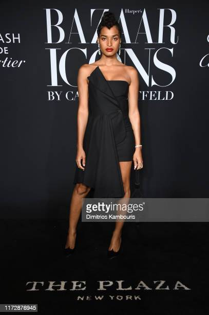 Indya Moore attends as Harper's BAZAAR celebrates ICONS By Carine Roitfeld at The Plaza Hotel presented by Cartier Arrivals on September 06 2019 in...