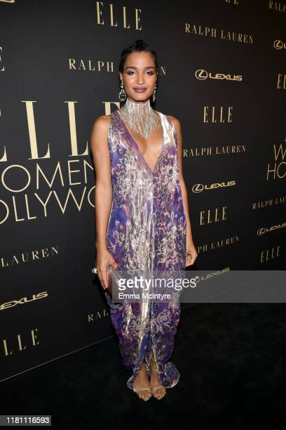 Indya Moore attends ELLE's 26th Annual Women In Hollywood Celebration Presented By Ralph Lauren And Lexus at The Four Seasons Hotel Los Angeles on...