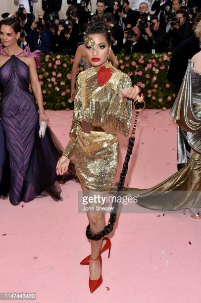 Indya Moore attends The 2019 Met Gala Celebrating Camp Notes On Fashion at The Metropolitan Museum of Art on May 06 2019 in New York City