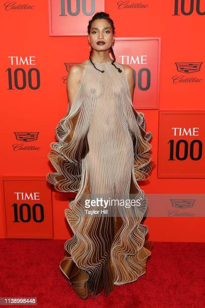 Indya Moore attends the 2019 Time 100 Gala at Frederick P Rose Hall Jazz at Lincoln Center on April 23 2019 in New York City