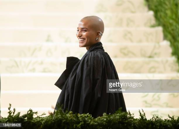 Indya Moore attends the 2021 Met Gala celebrating 'In America: A Lexicon of Fashion' at The Metropolitan Museum of Art on September 13, 2021 in New...