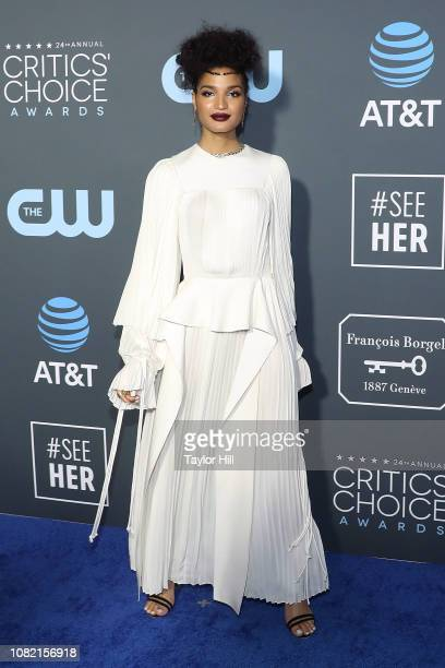 Indya Moore attends The 24th Annual Critics' Choice Awards at Barker Hangar on January 13 2019 in Santa Monica California