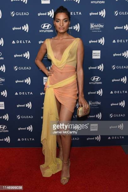 Indya Moore attends the 30th Annual GLAAD Media Awards New York at New York Hilton Midtown on May 04 2019 in New York City