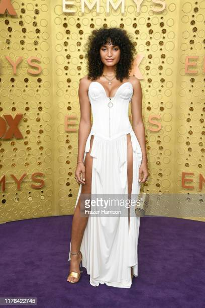 Indya Moore attends the 71st Emmy Awards at Microsoft Theater on September 22, 2019 in Los Angeles, California.