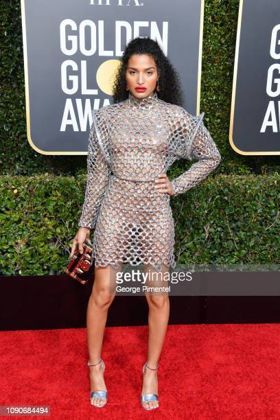 Indya Moore attends the 76th Annual Golden Globe Awards held at The Beverly Hilton Hotel on January 06, 2019 in Beverly Hills, California.