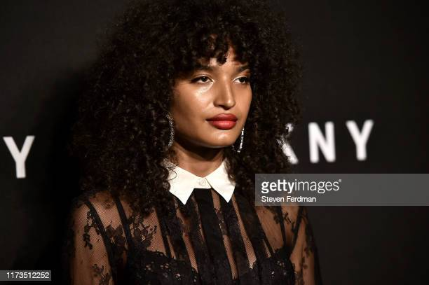 Indya Moore attends the DKNY 30th anniversary party at St Ann's Warehouse on September 09 2019 in New York City