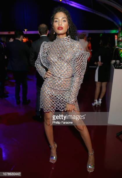 Indya Moore attends the FOX FX and Hulu 2019 Golden Globe Awards After Party at The Beverly Hilton Hotel on January 6 2019 in Beverly Hills California