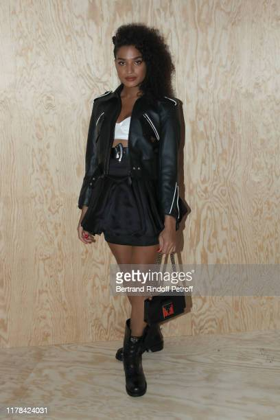 Indya Moore attends the Louis Vuitton Womenswear Spring/Summer 2020 show as part of Paris Fashion Week on October 01 2019 in Paris France