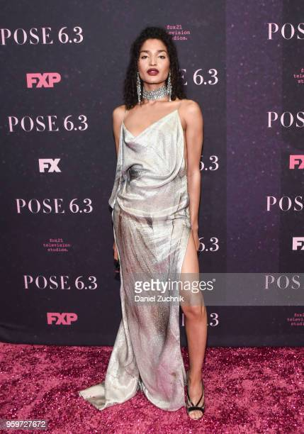 Indya Moore attends the New York premiere of FX series 'Pose' at Hammerstein Ballroom on May 17 2018 in New York City
