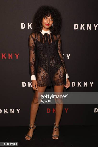 Indya Moore attends the party celebrating the 30th anniversary of DKNY at St Ann's Warehouse on September 09 2019 in New York City