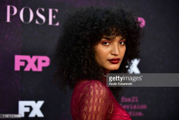 Indya Moore attends the red carpet event for FX's Pose at Pacific Design Center on August 09 2019 in West Hollywood California