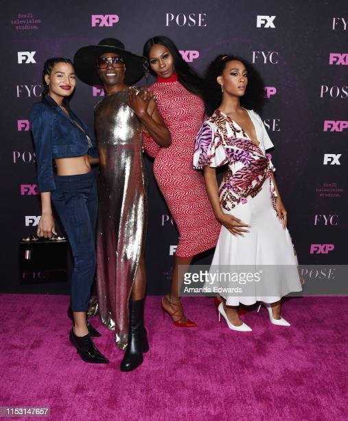 Indya Moore Billy Porter Dominique Jackson and Mj Rodriguez attend the FYC Event for FX'x Pose at the Hollywood Athletic Club on June 01 2019 in...