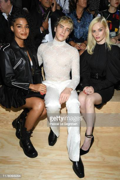 Indya Moore Cody Fern and Samara Weaving attend the Louis Vuitton Womenswear Spring/Summer 2020 show as part of Paris Fashion Week on October 01 2019...