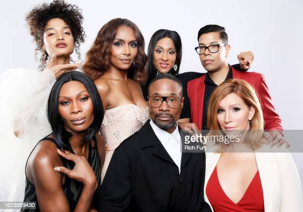 Indya Moore Janet Mock Mj Rodriguez abd Steven Canals Dominique Jackson Billy Porter and Our Lady J of FX's 'Pose' pose for a portrait during the...