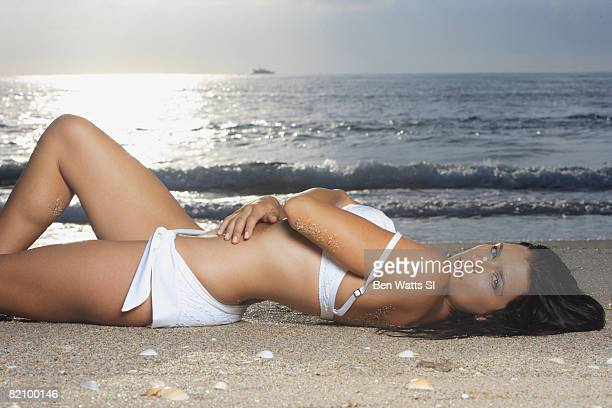 SINGER ISLAND FL IndyCar driver Danica Patrick is photographed on the beach at The Resort at Singer Island for the Swimsuit 2008 Issue of Sports...