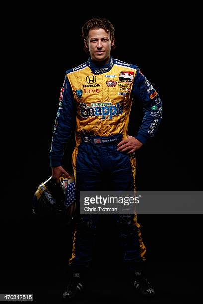 IndyCar driver Marco Andretti poses for a portrait during the IZOD IndyCar Series Media day at the Amway Center on February 18 2014 in Orlando Florida