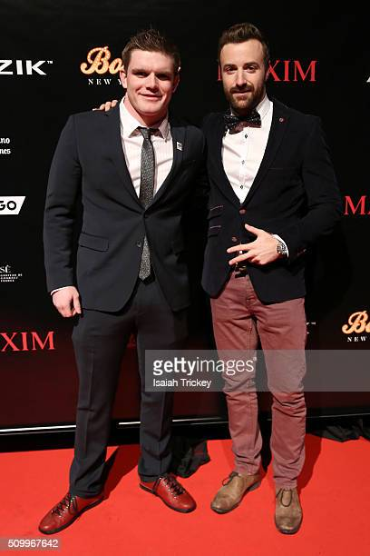 IndyCar racers Conor Daly and James Hinchcliffe attend the 2016 NBA AllStar Weekend Maxim Party at Muzik on February 12 2016 in Toronto Canada